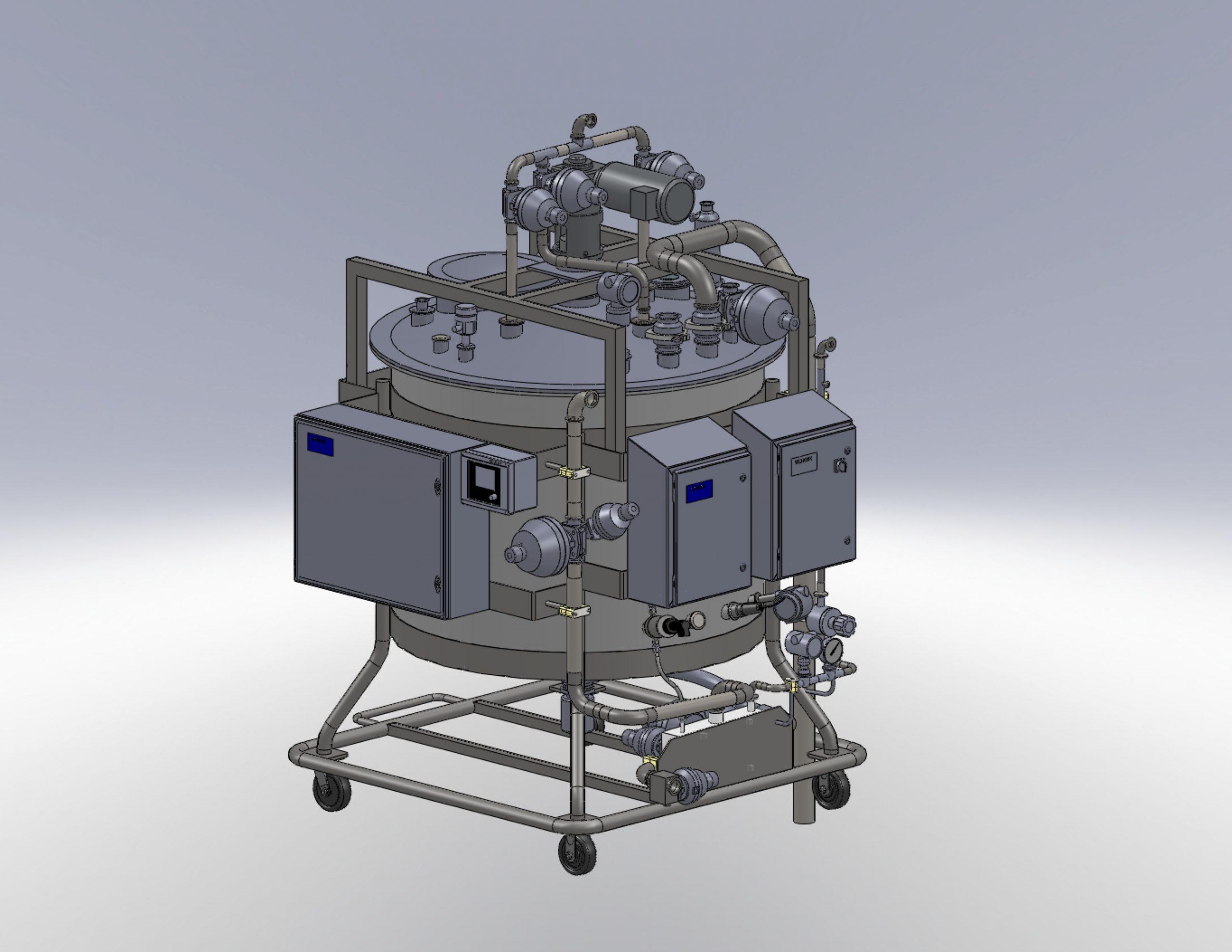 non metallic custom blending system