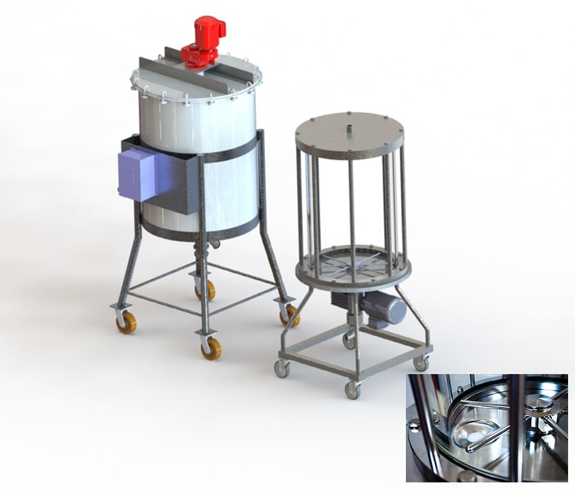 photo of Bottom entry mixer and top mount agitator